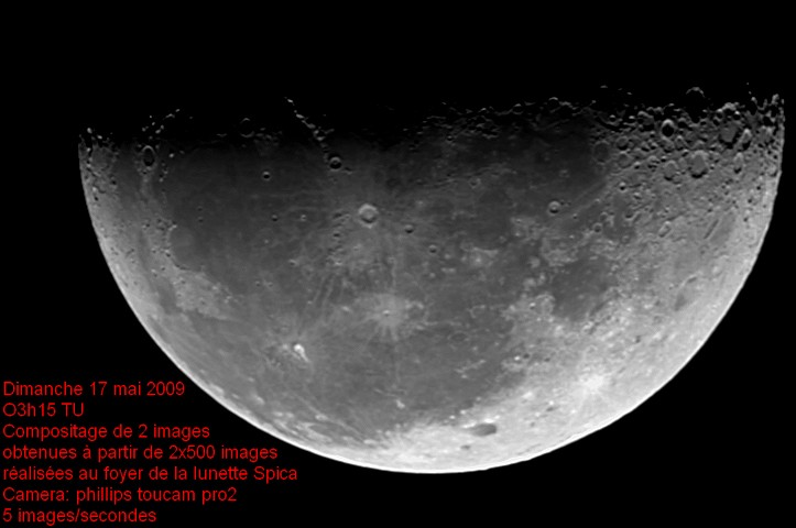 The Moon using 10€ kit-model telescope