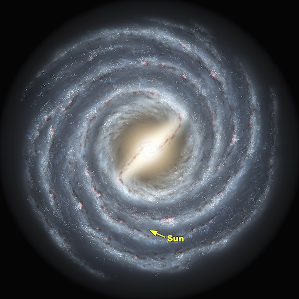Picture of what our Galaxy looks like. Click to download.
